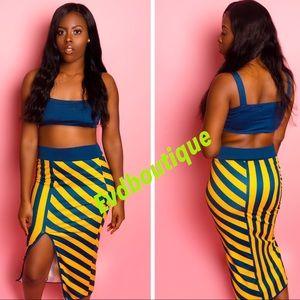 Long skirt 2 piece set
